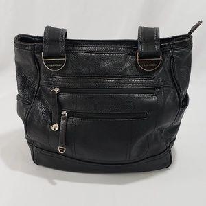 Tyler Rodan Black Leather Shoulder Bag Purse